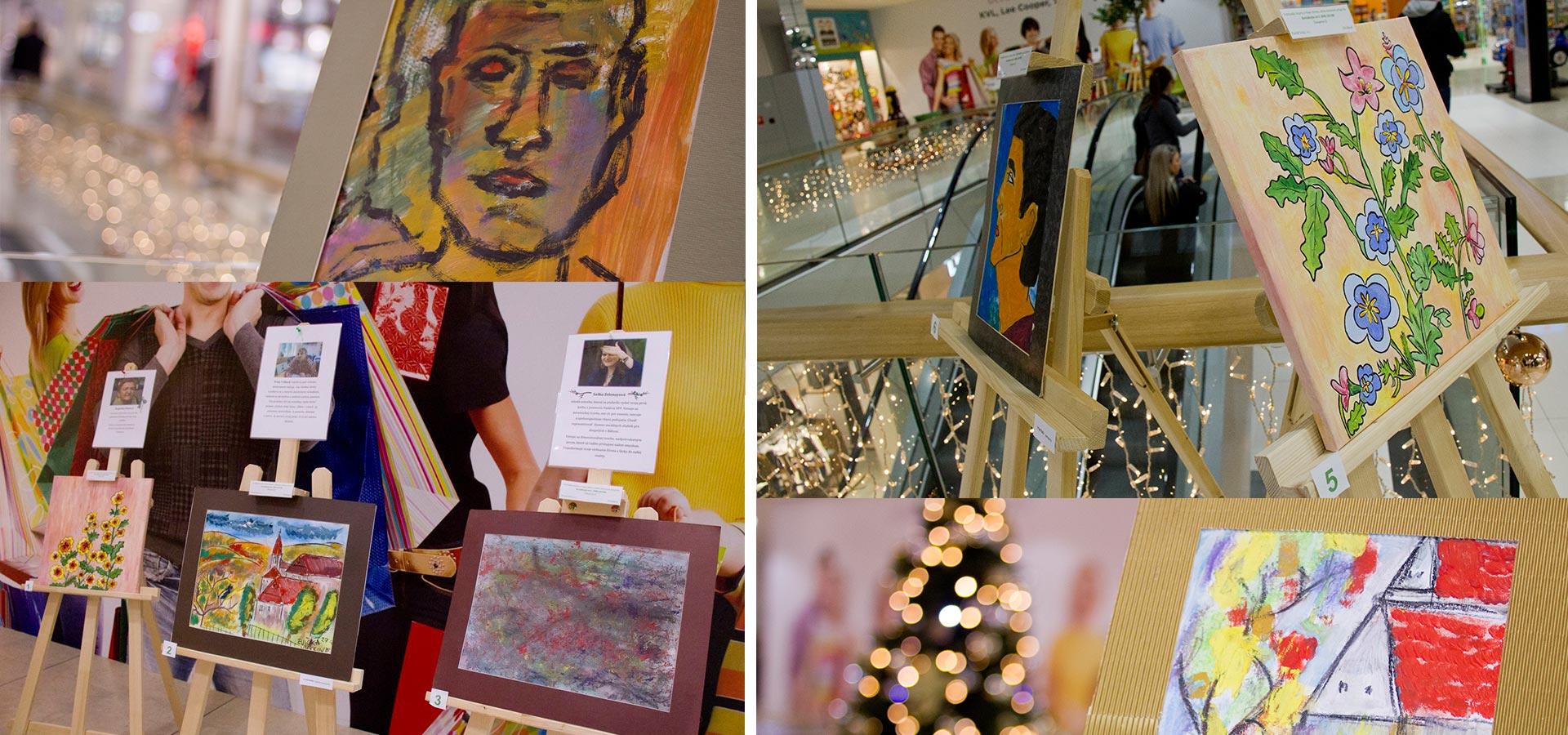Projekt: Charitatívna výstava obrazov - DSS Báhoň